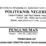 Pembayaran Uang Kuliah Tunggal (UKT) Calon Mahasiswa Baru Politeknik Negeri Manado Tahun 2021