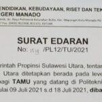 Pengumuman Surat Edaran Direktur Politeknik Negeri Manado No 1519 /PL12/TU/2021